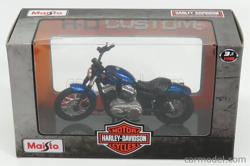 MAISTO 18861-39360 Scale 1/18  HARLEY DAVIDSON XL 1200N NIGHTSTER 2012 BLUE MET