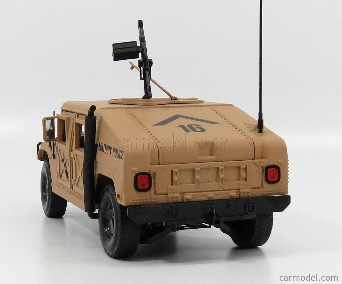 AUTOWORLD AWML003B/12B Echelle 1/18  HUMMER R-2 MILITARY POLICE 1991 MILITARY DESERT SAND
