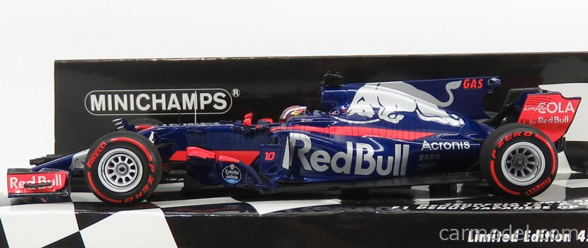 MINICHAMPS 417171410 Масштаб 1/43  TORO ROSSO F1  RENAULT STR12 N 10 JAPANESE GP 2017 P.GASLY BLUE RED
