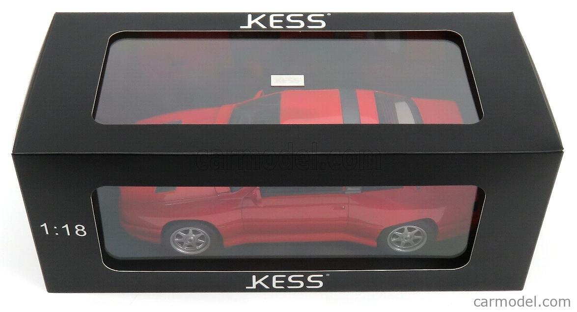 KESS-MODEL KE18003A Масштаб 1/18  MASERATI SHAMAL 1989 - CON VETRINA - WITH SHOWCASE RED