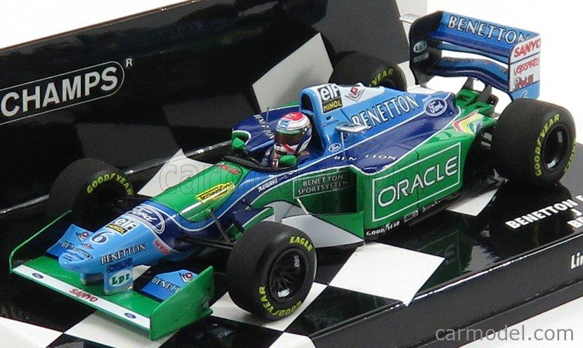 MINICHAMPS 417940806 Scale 1/43  BENETTON F1  B194 FORD N 6 BRITISH GP 1994 JOS VERSTAPPEN BLUE GREEN