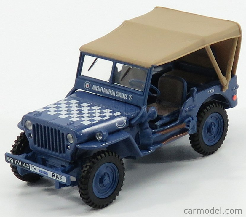 HONGWELL 91840 Scale 1/43  JEEP WILLYS 1/4 TON ARMY RAF MILITARY CLOSED 1941 BLUE CREAM