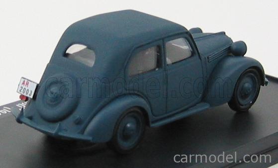 BRUMM PROM S03/18 Echelle 1/43  FIAT 1100B 1943 - ARDITI PARACADUTISTI - TRADATE 60 ANNI MATT BLUE