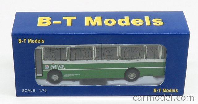 B-T MODELS B009 Echelle 1/76  BEDFORD YMT AUTOBUS EASTERN NATIONAL NBC 1985 GREEN SILVER