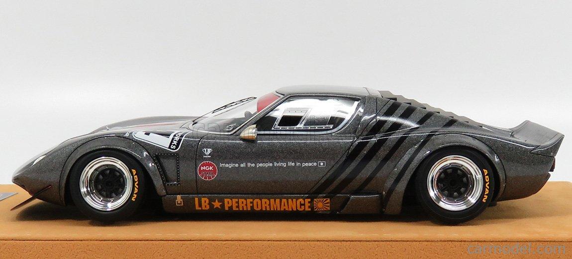 MODELCARSWHOLESALE LB0006 Masstab: 1/18  LAMBORGHINI MIURA LB WORKS CHASSIS FORD GT40 N 4 LIBERTY WALK - BASE LIGHT BROWN GREY MET