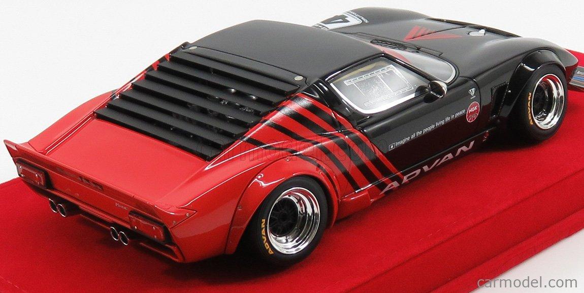 MODELCARSWHOLESALE LB0001 Masstab: 1/18  LAMBORGHINI MIURA LB WORKS CHASSIS FORD GT40 N 4 LIBERTY WALK - RED BASE BLACK RED