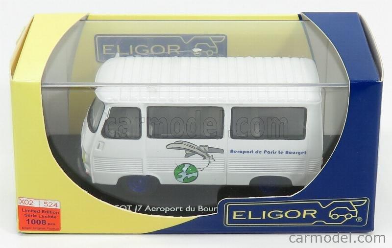 ELIGOR 100994 Scale 1/43  PEUGEOT J7 MINIBUS - AEROPORT DU BOURGET WHITE