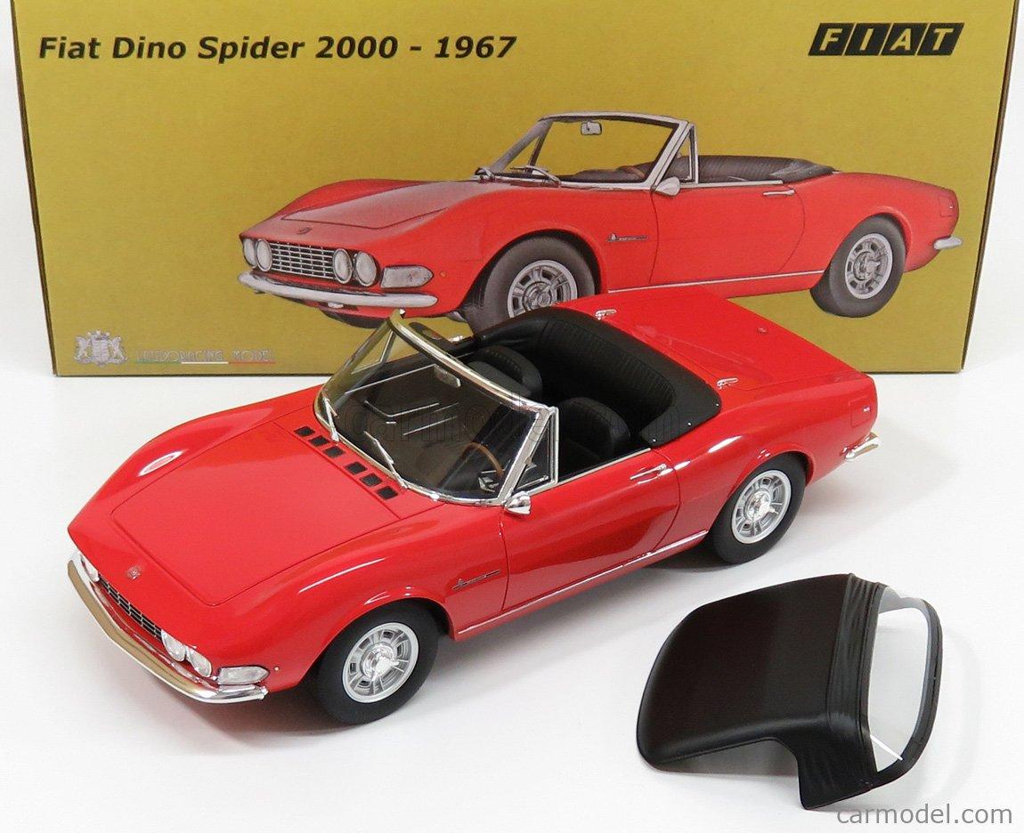 Fiat Dino Spider 2000 1967 gelb 1:18 Resin Laudoracing LM117A1 neu /& OVP