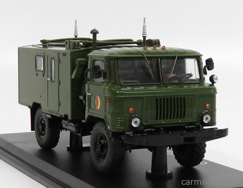 PREMIUM CLASSIXXS 47099 Scale 1/43  GAZ 66 TRUCK R-142 FUNKKOFFER 1968 MILITARY GREEN