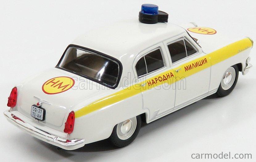 EDICOLA 126915 Echelle 1/43  GAZ VOLGA M21 POLICE 1956 WHITE YELLOW