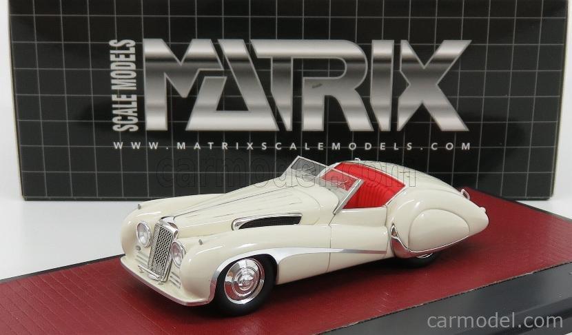 MATRIX SCALE MODELS MX41001-132 Escala 1/43  JAGUAR SS100 2.5 LITRE VANDEN PLAS ROADSTER 1939 WHITE