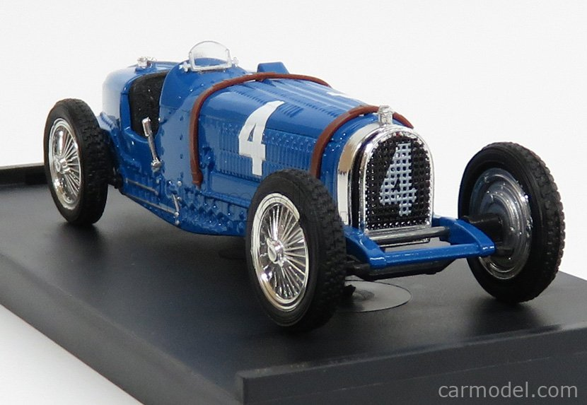 BRUMM R041-UPD Scala 1/43  BUGATTI F1 TIPO 59 N 4 WINNER BELGIUM GP 1934 RENE' DREYFUS BLUETTE