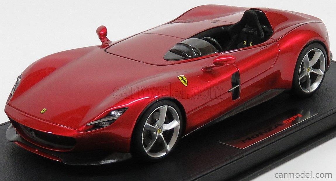 Bbr Models P18164b Masstab 1 18 Ferrari Monza Sp1 Paris Auto Show 2018 Red Met Rosso Magma