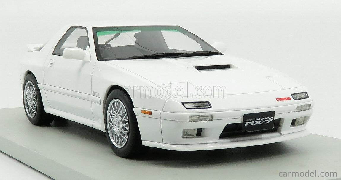 LS-COLLECTIBLES LS043B Echelle 1/18  MAZDA RX-7 COUPE 1989 WHITE