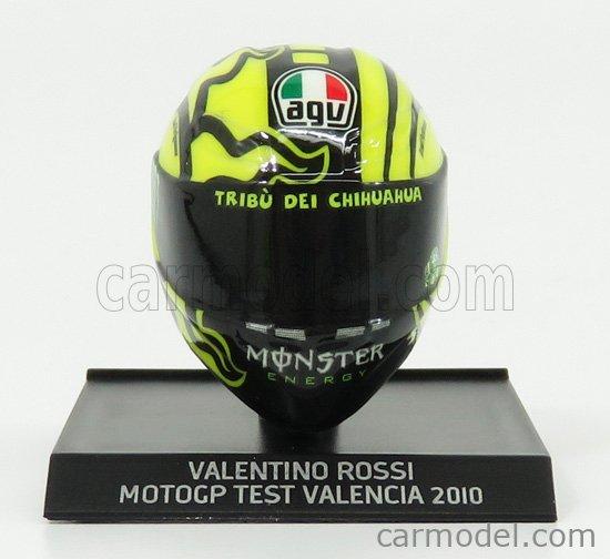 MINICHAMPS 315100066 Scale 1/10  AGV CASCO HELMET VALENTINO ROSSI MOTOGP DUCATI TEST VALENCIA 2010 YELLOW BLACK