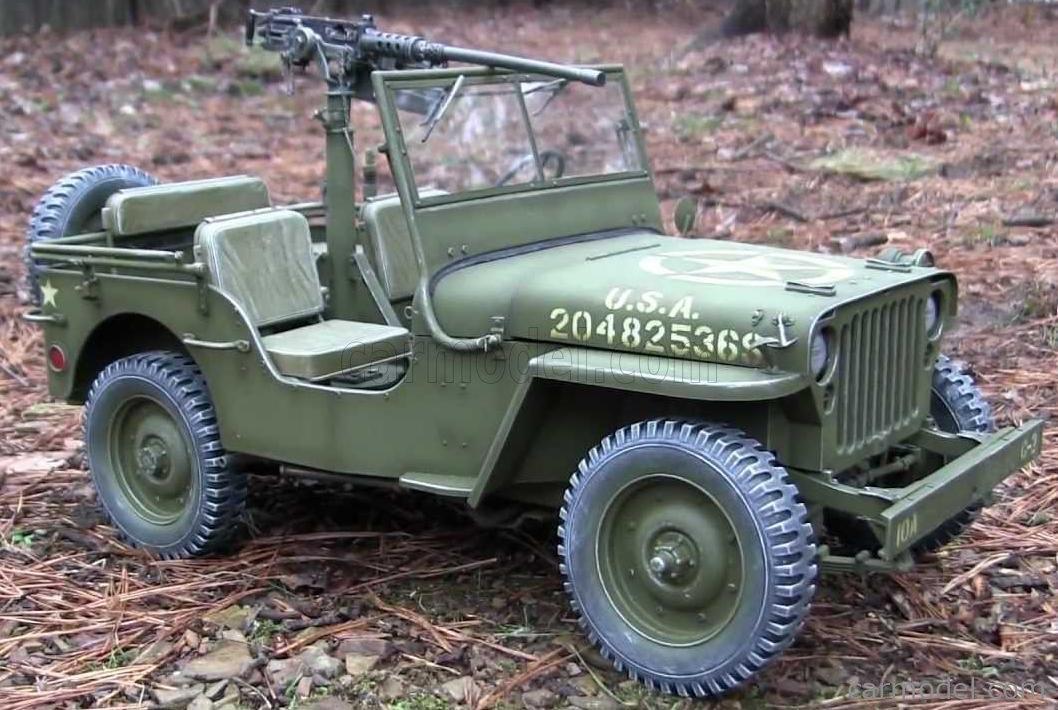 DRAGON ARMOR 75050 Echelle 1/6  JEEP WILLYS MB U.S 1/4 TON 4X4 MILITARY MACHINE GUN 1942 MILITARY GREEN
