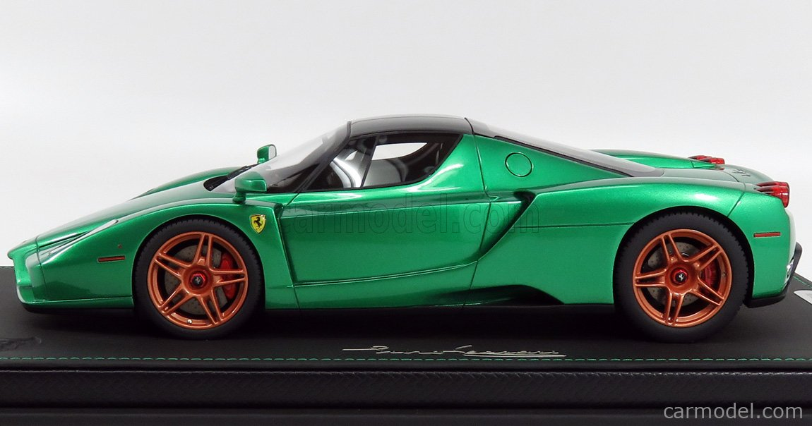 Bbr Models P18134mg Scale 1 18 Ferrari Enzo 2004 Metal Green Black Met