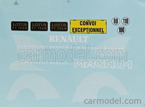 Z-MODELS ZMD1800102 Masstab: 1/18  RENAULT MAGNUM PHASE 2 TRUCK 2-ASSI TEAM F1 LOTUS 2001 BLACK