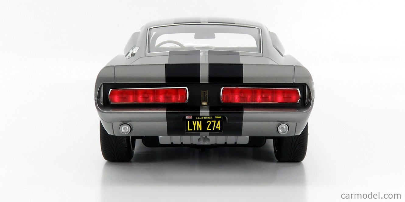 GREENLIGHT 12102 Масштаб 1/12  FORD USA MUSTANG SHELBY GT500E 1967 - ELEANOR - FUORI IN 60 SECONDI - GONE IN SIXTY SECONDS GREY MET BLACK