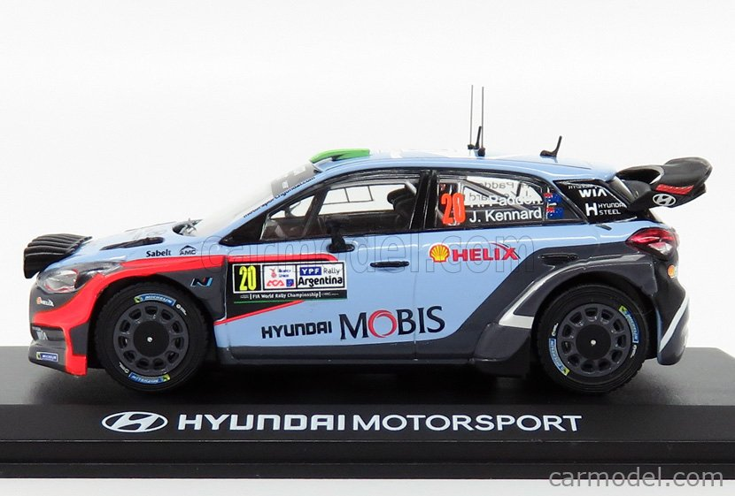 HYUNDAI I20 WRC Italie 2015 H.Paddon RD11B voiture 1//43 IXO Direkt Rallye