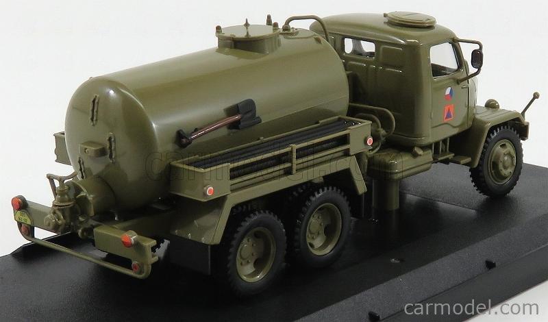 ABREX 143T-005H2 Echelle 1/43  PRAGA V3S TANKER TRUCK FEKALNI VUZ 1953 MILITARY GREEN