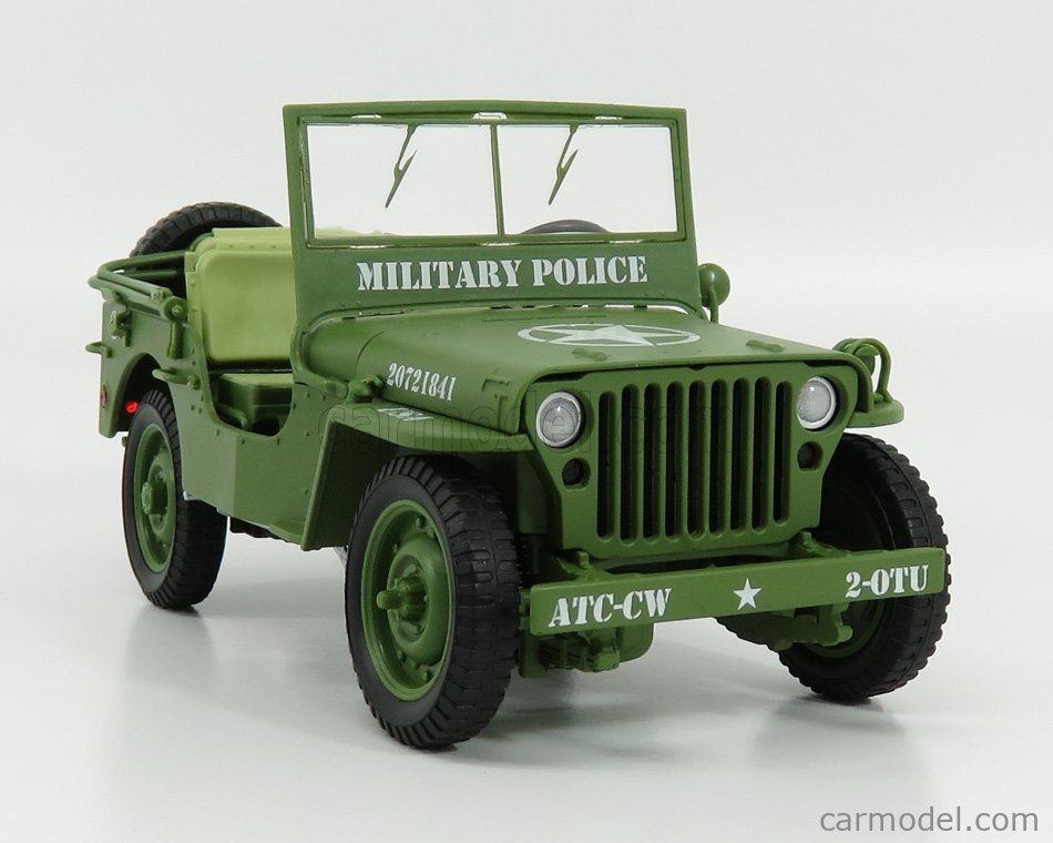 AMERICAN DIORAMA AD77406-1800142 Echelle 1/18  JEEP WILLYS US ARMY OPEN MILITARY POLICE 1941 MILITARY GREEN