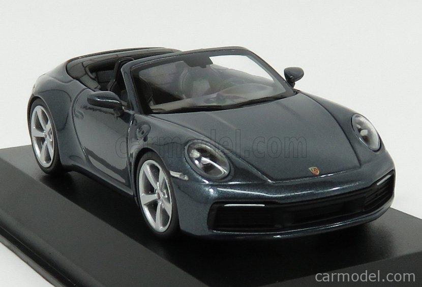 MINICHAMPS WAP0201750K Masstab: 1/43  PORSCHE 911 992 CARRERA 2S CABRIOLET 2019 BLUE GREY MET