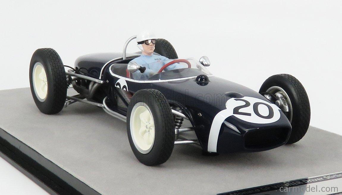 MOSS WINNER F1 MONACO GP 1961 W//DRIVER 1//18 TECNOMODEL TM18-124F LOTUS 18 #20 S