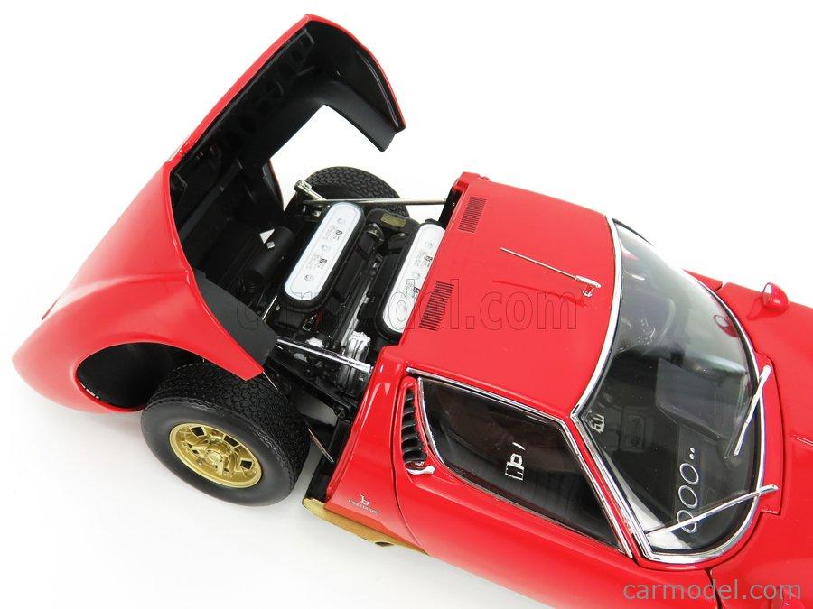 KYOSHO 08316R Масштаб 1/18  LAMBORGHINI MIURA P400S 1966 RED GOLD