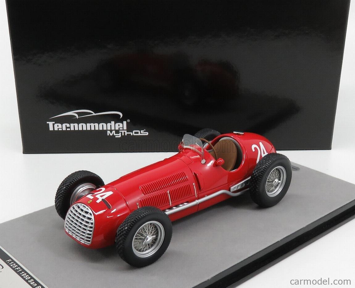 TECNOMODEL TM18-149D Escala 1/18  FERRARI F1  125 N 24 SANREMO GP 1950 L.VILLORESI RED