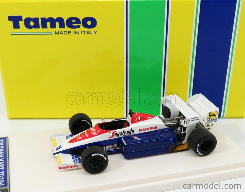 TAMEO TMB053 Masstab: 1/43  TOLEMAN F1 HART TG184 N 19 3rd BRITISH GP 1984 AYRTON SENNA BLUE WHITE RED
