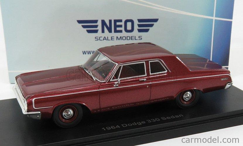 NEO SCALE MODELS NEO47223 Scale 1/43  DODGE 330 SEDAN 1964 RED MET