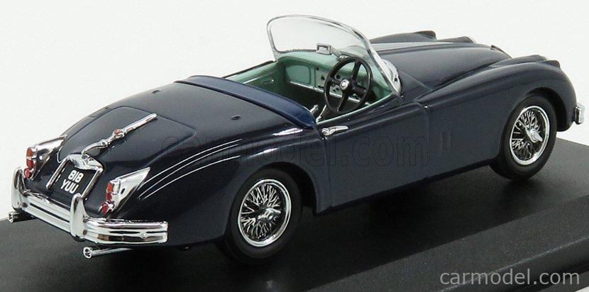 OXFORD-MODELS 43XK150009 Echelle 1/43  JAGUAR XK150 SPIDER OPEN RHD 2-DOOR 1958 INDINGO BLUE