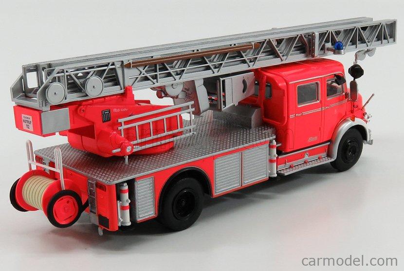 EDICOLA G190E004 Scale 1/43  MERCEDES BENZ L1113 TRUCK FIRE ENGINE SCALA 1963 VIGILI DEL FUOCO RED FLUO