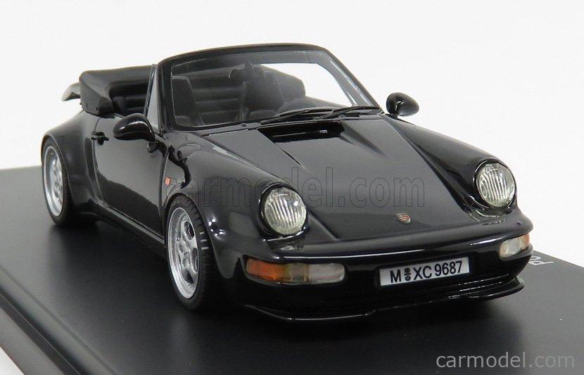 AVENUE43 ATC60031 Scale 1/43  PORSCHE 911 964 TURBO CABRIOLET GERMANY 1993 BLACK MET