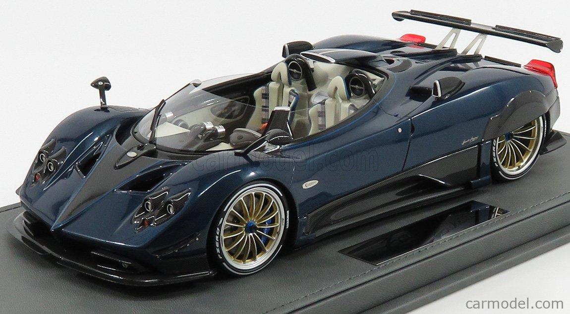 Bbr Models P18161a Scale 1 18 Pagani Zonda Hp Barchetta 2018 Blue Met Carbon