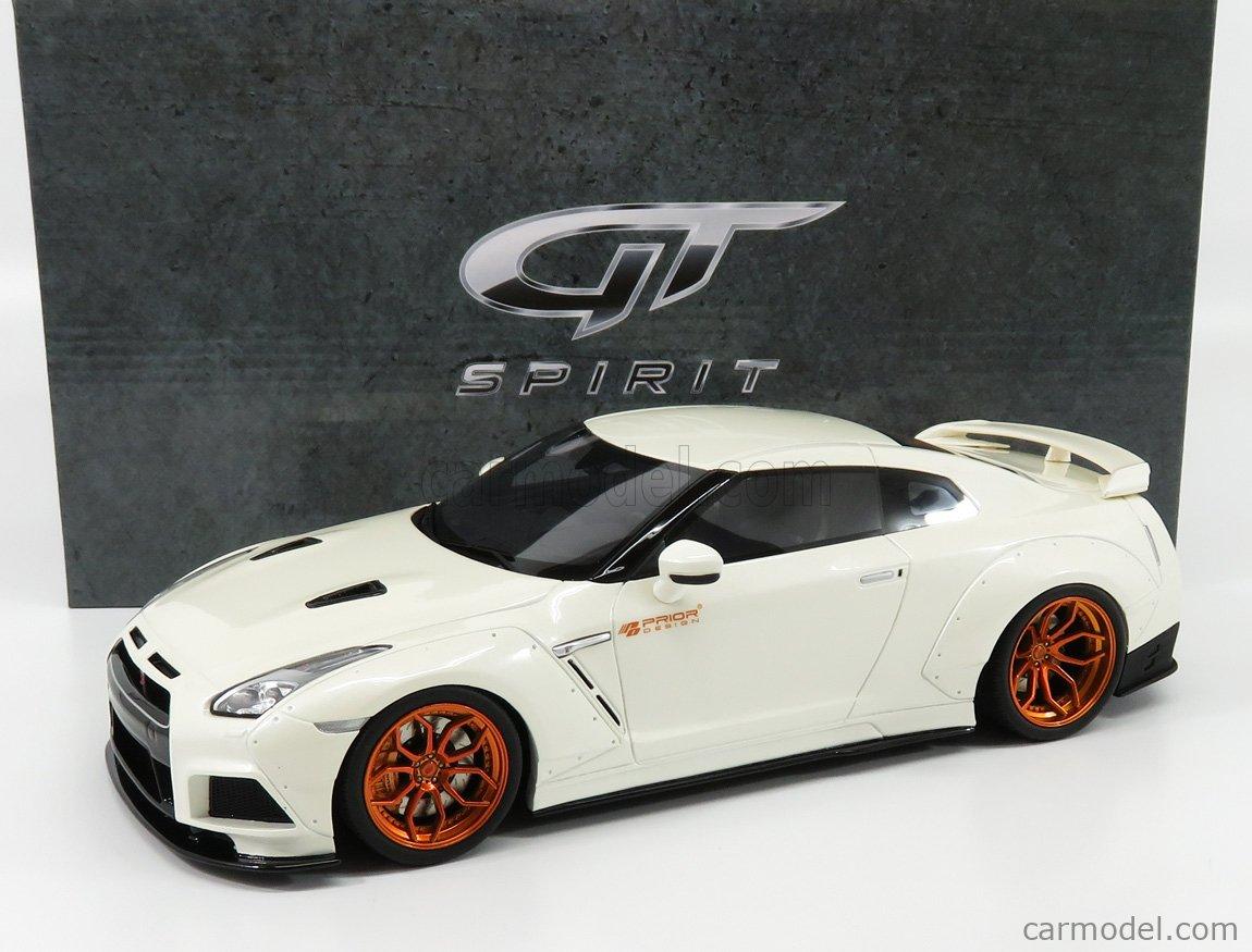 GT-SPIRIT KJ030 Scale 1/18  NISSAN GT-R (R35) PRIOR DESIGN 2016 WHITE PEARL MET COPPER