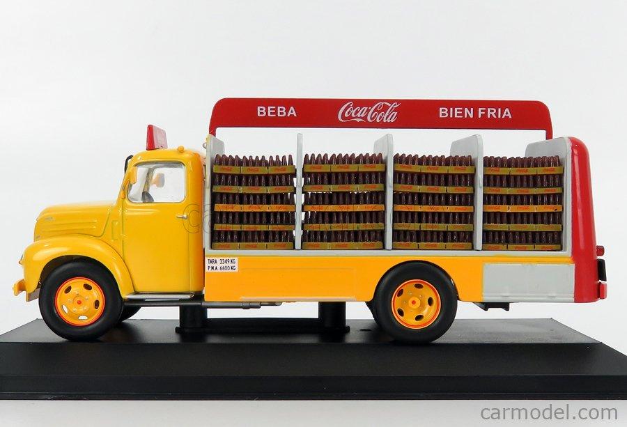 EDICOLA VEDEREPESP003 Масштаб 1/43  EBRO B-45 TRUCK COCA-COLA 1962 YELLOW