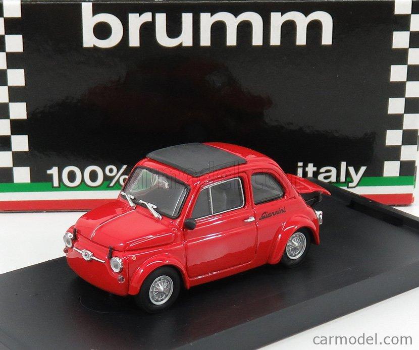 BRUMM R490-UPD Echelle 1/43  FIAT 500 590GT N 0 GIANNINI VALLELUNGA 1969 RED