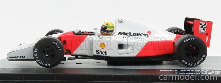 EDICOLA F1BRACOL031-30536 Scale 1/43  McLAREN F1  HONDA MP4/7 N 1 GERMANY GP 1992 AYRTON SENNA WHITE RED