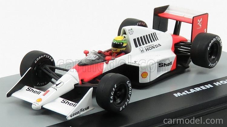 EDICOLA F1BRACOL032-920460 Scale 1/43  McLAREN F1  MP4/5 HONDA V10 N 1 GERMANY GP 1989 AYRTON SENNA WHITE RED