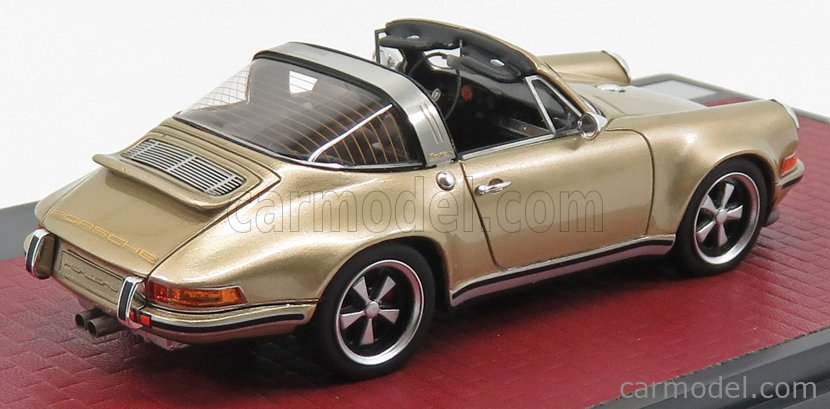 MATRIX SCALE MODELS MX41607-092 Scale 1/43  PORSCHE 911 TARGA SINGER DESIGN 2014 GOLD MET