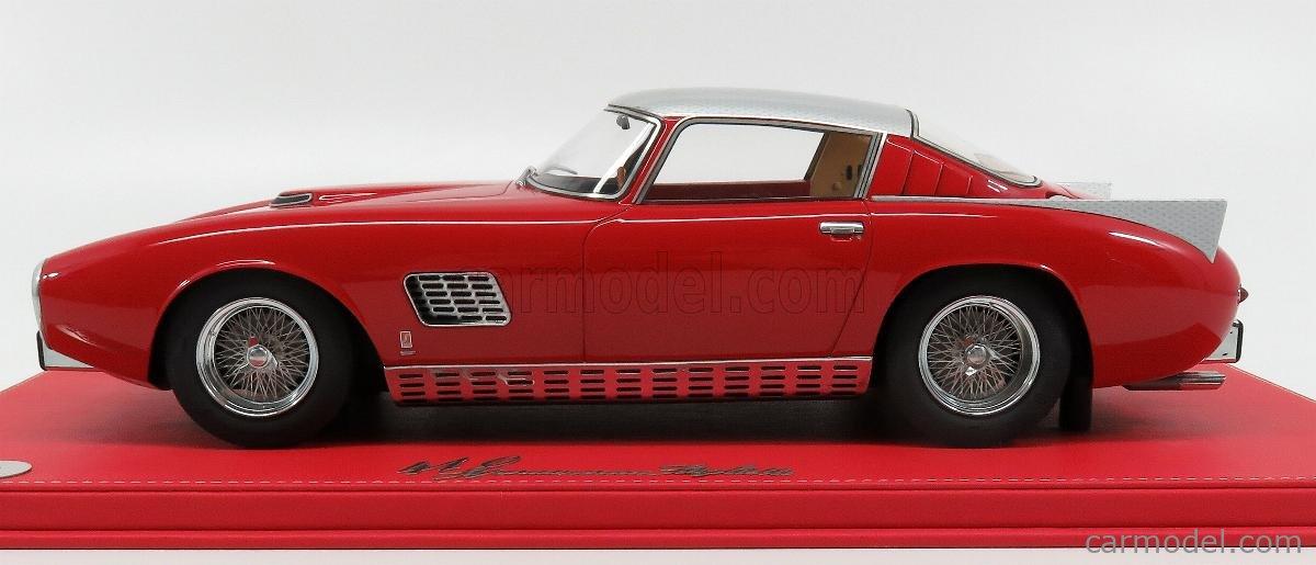 MODELCARSWHOLESALE SA0012 Masstab: 1/12  FERRARI 410 SUPERAMERICA SCAGLIETTI COUPE 1957 - COFFRET BOX RED SILVER
