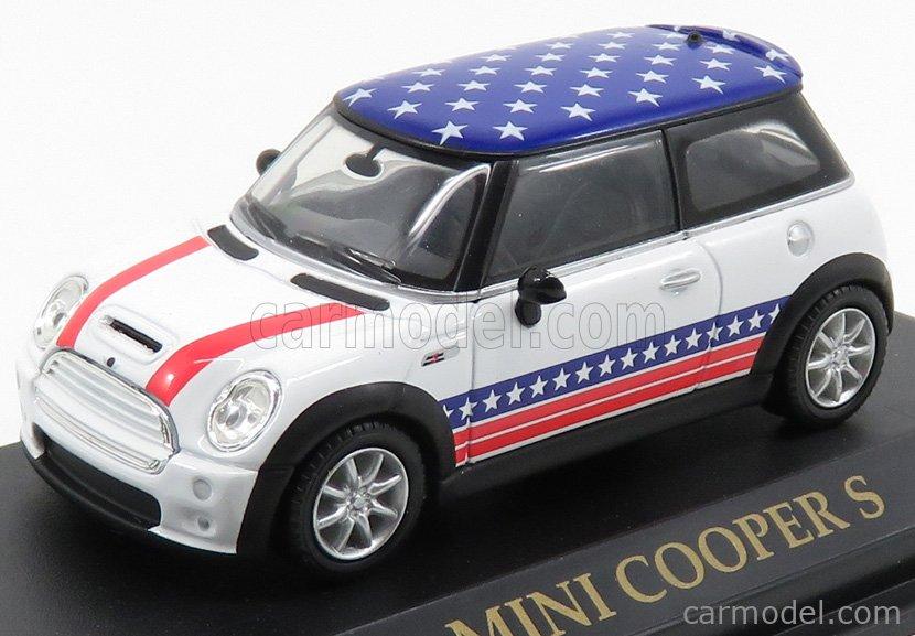 YAT-MING YM74248 Echelle 1/43  MINI COOPER S 2001 - USA FLAG WHITE BLUE
