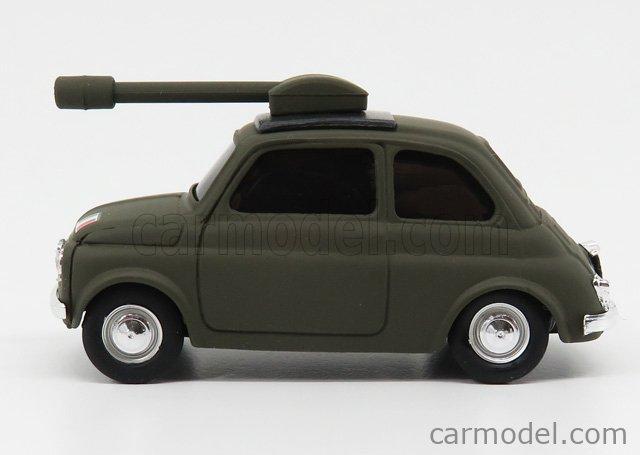 BRUMM BR039 Echelle 1/43  FIAT 500 TANK MILITARY 1965 MILITARY GREEN