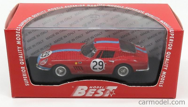 BEST-MODEL 9084/2 Масштаб 1/43  FERRARI 275 GTB 3.3L V12 TEAM MARANELLO CONCESSIONAIRES N 29 24h LE MANS 1966 P.COURAGE - R.PIKE RED