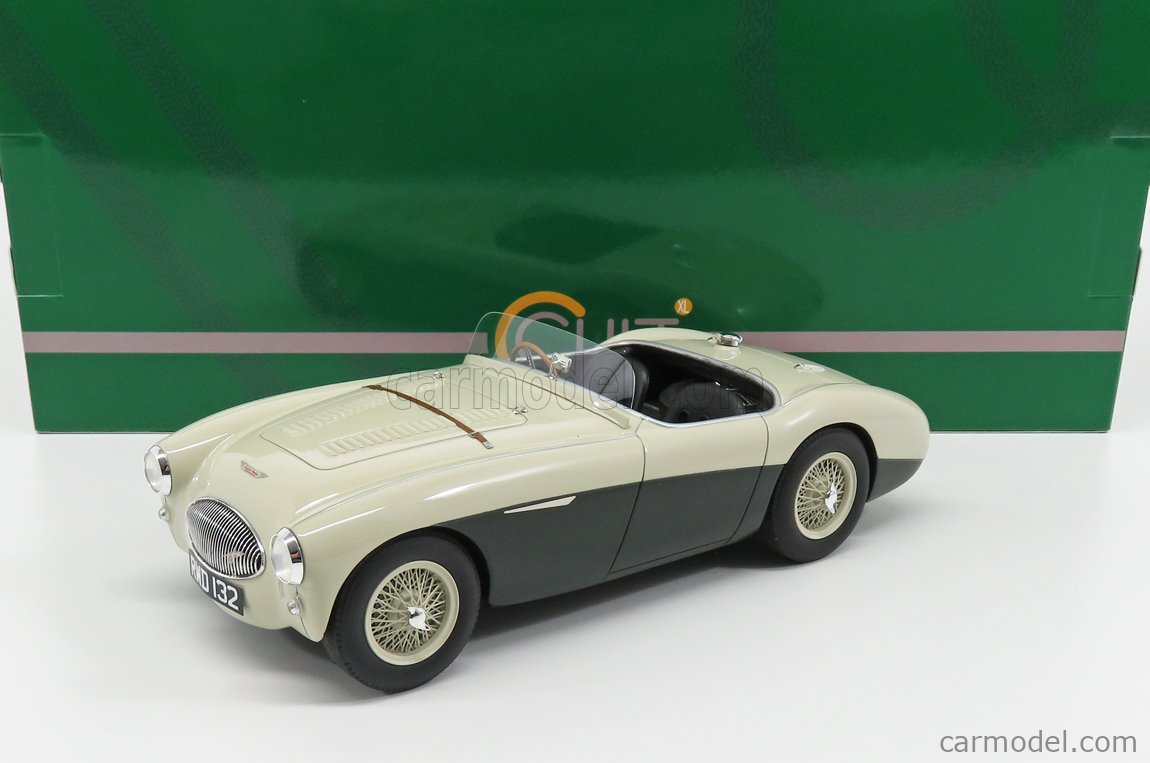 CULT-SCALE MODELS CML045-2 Echelle 1/18  AUSTIN HEALEY 100S SPIDER 1955 GREEN WHITE
