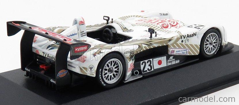 MINICHAMPS AC4008823 Scale 1/43  PANOZ LMP 6.0L V8 TEAM TV ASAHI DRAGON N 23 24h LE MANS 2000 T.SUZUKI - M.KAGEYAMA - M.KAGEYAMA WHITE