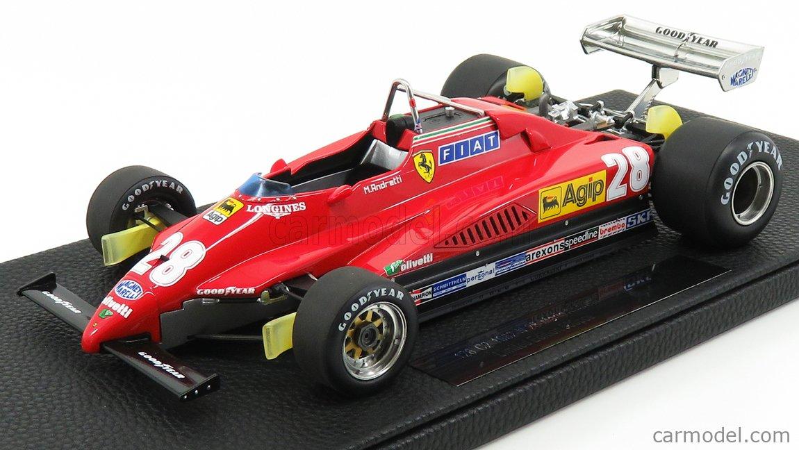 Gp Replicas Gp019h Scale 1 18 Ferrari F1 126c2 N 28 Italian Gp 1982 Mario Andretti Red