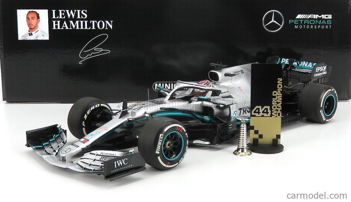 1//18 Minichamps Lewis Hamilton 2019 F1 Mercedes-AMG F1 W10 EQ #44 U.S GP